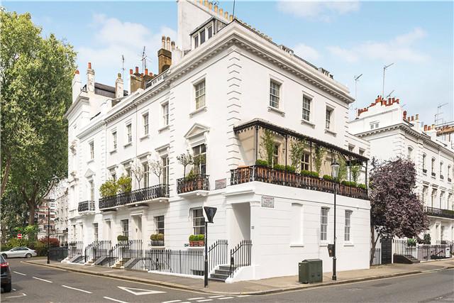 伦敦 London 联排别墅 6卧4卫 风格典雅 高端装修 私人车库 步行至Harrods